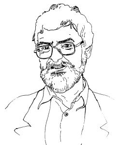 Distinguished-looking bearded professor-type dude.